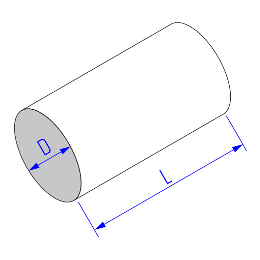 Прямой участок круглого воздуховода