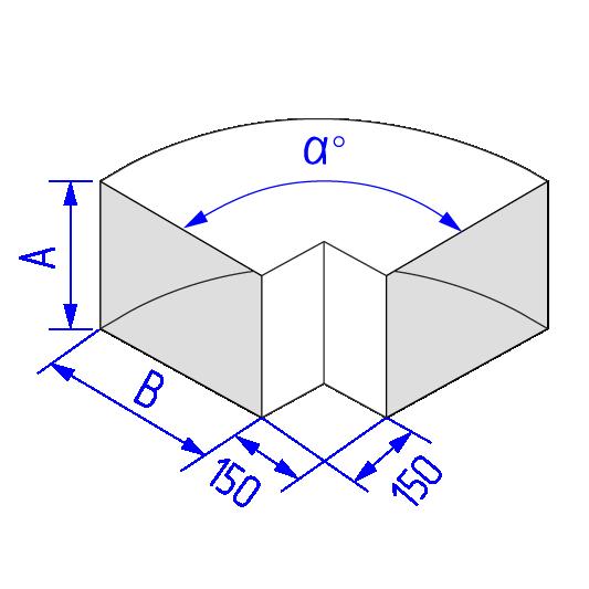 Отвод прямоугольного воздуховода