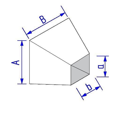Переход сечения прямоугольного воздуховода