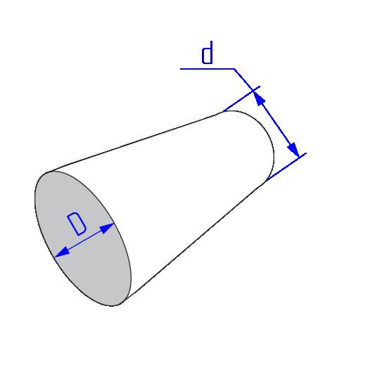 Переход сечения круглого воздуховода