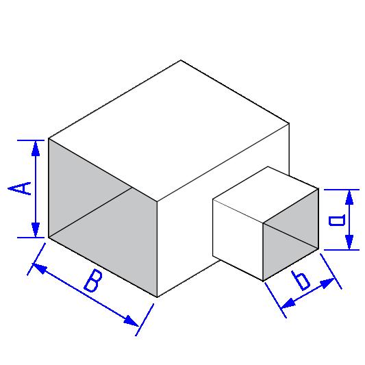 Тройник дляпрямоугольного воздуховода