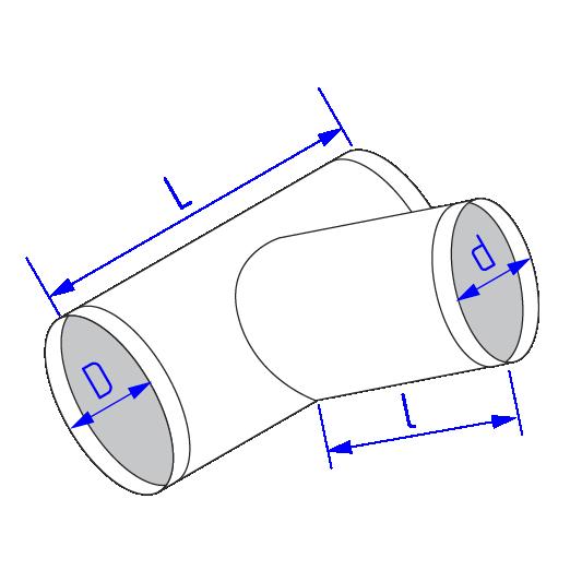Тройник длякруглого воздуховода